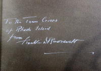 """Franklin D. Roosevelt Signed 20x25 Custom Framed Photo Display Inscribed """"To the Town Criers of Rhode Island"""" (Beckett LOA) at PristineAuction.com"""