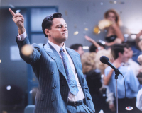 "Leonardo DiCaprio Signed ""The Wolf of Wall Street"" 16x20 Photo (PSA COA) at PristineAuction.com"