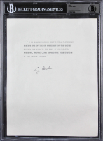 George H. W. Bush Signed Oath of Office Sheet (BAS Encapsulated)