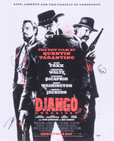 """Django Unchained"" 16x20 Photo Signed by (4) with Quentin Tarantino, Leonardo DeCaprio, Christoph Waltz, & Jamie Foxx (PSA LOA)"