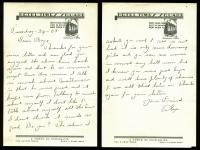 Grover Cleveland Signed Handwritten Letter (JSA LOA)