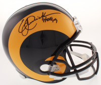 """Eric Dickerson Signed Rams Full-Size Helmet Inscribed """"HOF 99"""" (Beckett COA) at PristineAuction.com"""