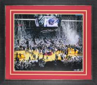 LeBron James Signed Miami Heat 2012 NBA Finals 28x32 Custom Framed Photo Display (UDA COA)