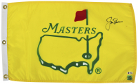 Jack Nicklaus Signed Masters Tournament Pin Flag (Beckett LOA)