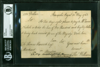 John Hancock Signed Handwritten Payment Order Document (BAS Encapsulated)