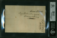 John Hancock Signed Handwritten Payment Order Document (BAS Encapsulated) at PristineAuction.com