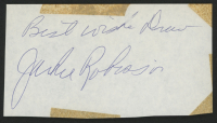 "Jackie Robinson Signed 3x5.25 Cut Inscribed ""Best Wishes"" (JSA LOA) at PristineAuction.com"