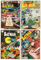 "Lot Run of (4) 1968 ""Batman"" #202-#205 DC Comic Books"
