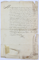 King Louis XV Signed Appointment Document (Beckett LOA)