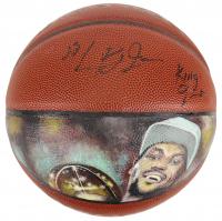 "LeBron James Signed Hand-Painted NBA Basketball Inscribed ""King James"" (JSA LOA)"