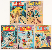 "Lot of (5) 1963-64 ""Batman"" DC Comic Books with #160, #161, #164, #165, & #167"