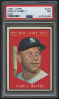 1961 Topps #475 Mickey Mantle MVP (PSA 7) at PristineAuction.com