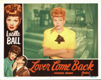 """Lucille Ball Signed """"Lover Come Back"""" 11x14 Lobby Card Inscribed """"Love"""" (JSA LOA)"""