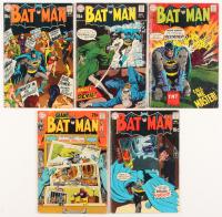 """Lot of (5) 1969-70 """"Batman"""" #214-#218 DC Comic Books"""