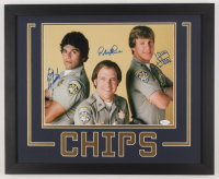 "Erik Estrada, Robert Pine & Larry Wilcox Signed ""CHiPs"" 18x22 Custom Framed Photo Display (JSA COA)"