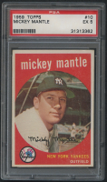 1959 Topps #10 Mickey Mantle (PSA 5)