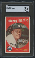 1959 Topps #10 Mickey Mantle (SGC 3)