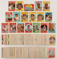 1959 Topps Complete Set of (572) Baseball Cards with #10 Mickey Mantle, #564 Mickey Mantle AS, #514 Bob Gibson RC, #380 Hank Aaron, #50 Willie Mays