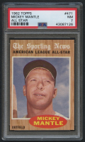 1962 Topps #471 Mickey Mantle AS (PSA 7)