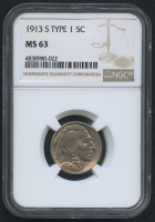 1913-S 5¢ Buffalo Nickel - Type 1 (NGC MS 63) at PristineAuction.com