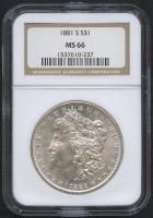 1881-S $1 Morgan Silver Dollar (NGC MS 66) at PristineAuction.com