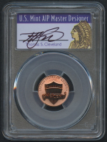 2019-W 1¢ Lincoln Shield Penny - Reverse Proof - First Strike - Signed by U.S. Mint AIP Master Designer Thomas S. Cleveland (PCGS PR 70 RD)