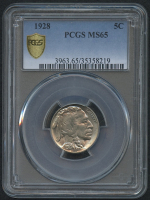 1928 5¢ Buffalo Nickel (PCGS MS 65) at PristineAuction.com