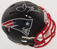 Julian Edelman Signed New England Patriots Matte Black Speed Mini Helmet (Beckett COA)