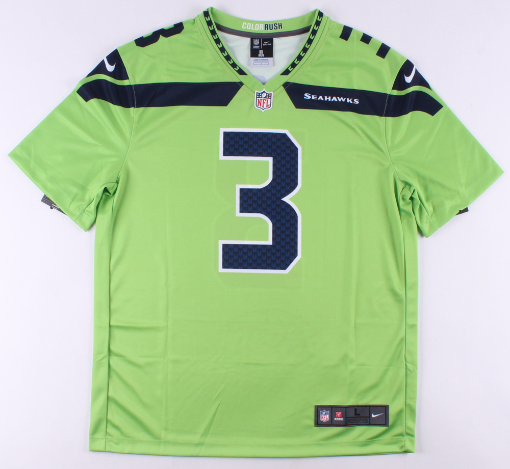 Russell Wilson Signed Seattle Seahawks Nike Color Rush Jersey ...