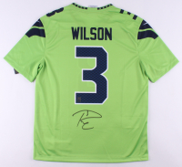 Russell Wilson Signed Seattle Seahawks Nike Color Rush Jersey (Wilson Hologram)