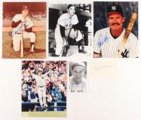 Lot of (392) Signed New York Yankees Baseball Flats with Lefty Gomez, Doc Ellis, Phil Rizzuto, Wade Boggs, Gary Sheffield, Goose Gossage, Johnny Mize, Don Mattingly, Yogi Berra, Whitey Ford (JSA ALOA) at PristineAuction.com
