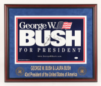 George W. Bush & Laura Bush Signed 22x26 Custom Framed Photo Display (JSA LOA) at PristineAuction.com