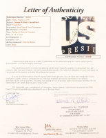George W. Bush & Laura Bush Signed 22x26 Custom Framed Photo Display (JSA LOA) at PristineAuction.com