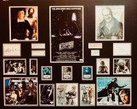 Star Wars: The Empire Strikes Back Cast-Signed 35x43 Custom Framed Display with (16) Signatures Including  Harrison Ford, Carrie Fisher, Mark Hamill, Anthony Daniels, Billy Dee Williams, James Earl Jones (JSA LOA & JSA COA) at PristineAuction.com