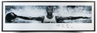 "Michael Jordan Signed Chicago Bulls ""Wings"" 27x76 Custom Framed Limited Edition Poster Inscribed ""2009 HOF"" (UDA COA)"