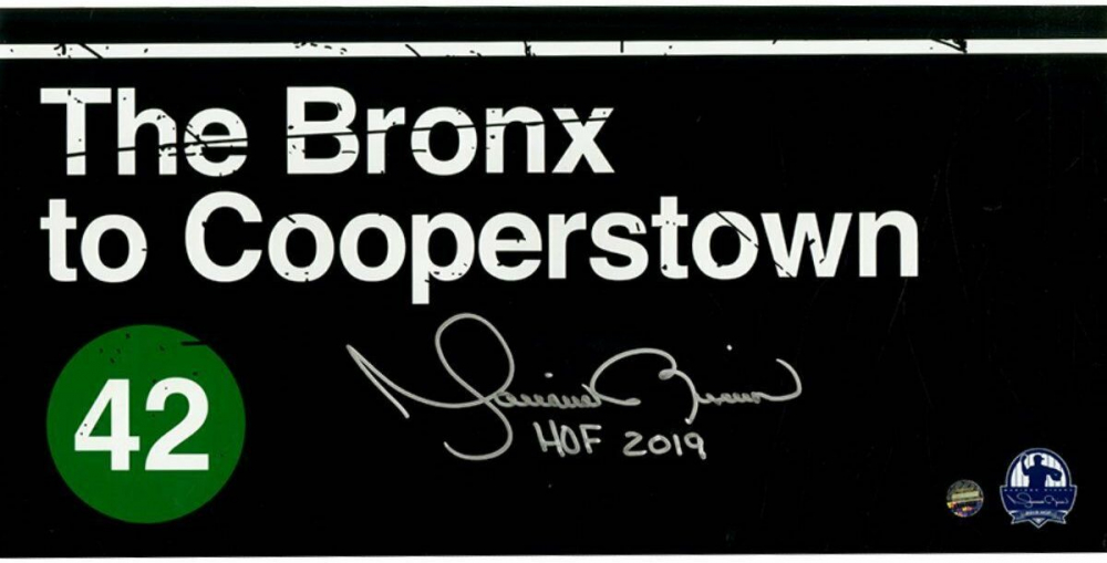 """Mariano Rivera Signed """"Bronx to Cooperstown"""" 6x12 Photo Inscribed """"HOF 2019"""" (Steiner Hologram) at PristineAuction.com"""