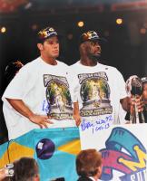 Reggie White & Brett Favre Signed Green Bay Packers 16x20 Photo (Beckett LOA)