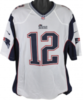 "Tom Brady Signed New England Patriots Nike Jersey Inscribed ""SB 49 MVP"" (TriStar Hologram & Steiner Hologram) at PristineAuction.com"