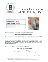 """Pope Francis Signed 5x8 Photo Inscribed """"Erzbischof von Buenos Aires"""" (Beckett LOA) at PristineAuction.com"""