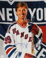 Wayne Gretzky Signed New York Rangers 16x20 Photo (PSA LOA)