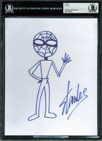 Stan Lee Signed 8x10 Spider-Man Original Sketch Cut (BAS Encapsulated)