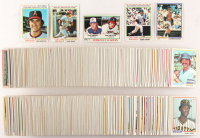 Near Complete Lot of (638/726) 1978 Topps Baseball Cards with #6 Nolan Ryan, #5 Pete Rose, #7 Reggie Jackson, #60 Thurman Munson, & 3206 Strikeout Leaders / Nolan Ryan / Phil Niekro