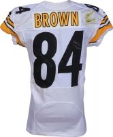 "Antonio Brown Signed Game-Used Pittsburgh Steelers Nike Jersey Inscribed ""Game Worn 2014"" & ""Week #6 vs. Browns"" (PSA LOA)"