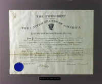 Theodore Roosevelt & William Howard Taft Signed 20x24 Custom Matted Appointment Document (PSA LOA)