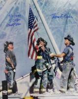 """Thomas E. Franklin Signed LE """"Raising the Flag at Ground Zero"""" 16x20 Photo Inscribed """"9/11/2001"""", """"5:01 PM"""" & """"Ground Zero"""" (PSA COA)"""