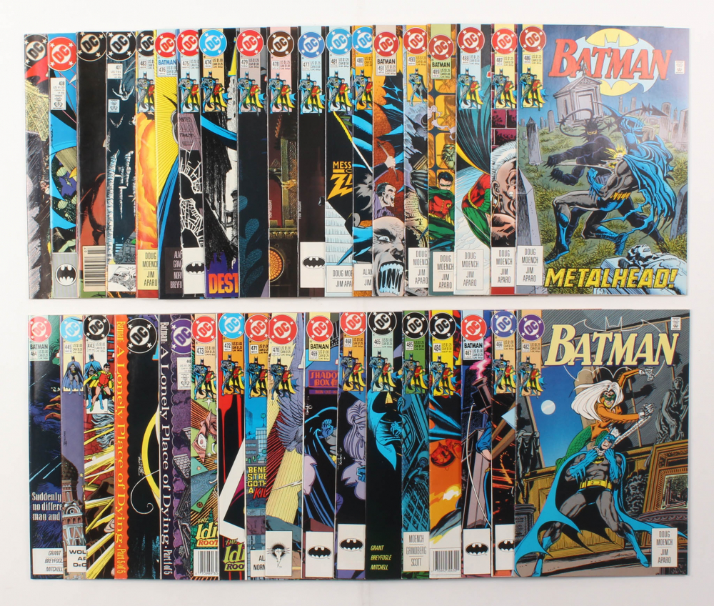 "Lot of (36) 2003-2005 DC ""Batman"" Comic Books Issues with #486, #490, #475, #467, #440 at PristineAuction.com"