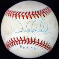 """Derek Jeter Signed OAL Baseball Inscribed """"ROY 96"""" (PSA COA)"""
