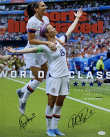 Alex Morgan & Megan Rapinoe Signed Team USA Soccer 16x20 Photo (JSA COA)