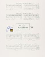 Jack Nicklaus Signed 1986 Masters Full Scorecard 16x20 Print (Fanatics Hologram & Nicklaus Hologram) at PristineAuction.com