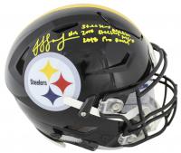 "JuJu Smith-Schuster Signed Pittsburgh Steelers Full-Size Authentic On-Field SpeedFlex Helmet Inscribed ""Steelers Nation"", ""2018 Steelers MVP"" & ""2018 Pro Bowl"" (Beckett COA)"